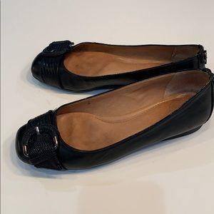 NURTURE Buckle Toe Ballerina Flats